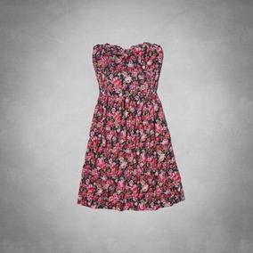 Vestido Abercrombie Floral Casual Feminino Casaco Hollister