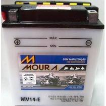 Bateria Moto 14ah Bateria De Moto 12v 14a 14 Amperes Mv14-e