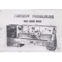 Torno Universal Parealelo Nardini Modelo Nz500/650