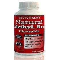 Natural Metil B12 1000 Mcg Masticable 100 Pastillas. Mejorar