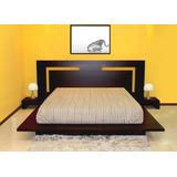 Cama Dos Plazas Lineal + 2 Veladores Dormitorio Dr 016