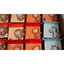 Cajitas Fibrofacil Souvenirs De Animalitos 8x8x8