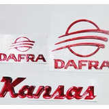 Adesivo Alto Relevo Moto Dafra Kansas Custom + Frete Grátis