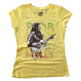 Remera Bob Marley Original Mujer Varios Talles Import Nuevas