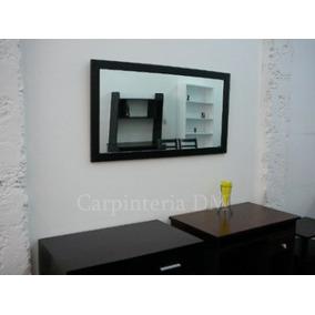 Espejo moderno espejos modernos de cristal modelo leila for Espejo marco wengue