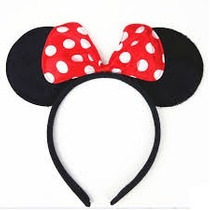 1 Diadema Mimi O Mickey Fiestas Eventos Minnie Moño Orejas