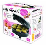 Máquina De Fazer Cupcake Maker Britânia Antiaderente Muffins