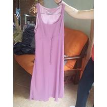Vestido Sans Doute Color Rosa Viejo, Elegante, Con Clase.