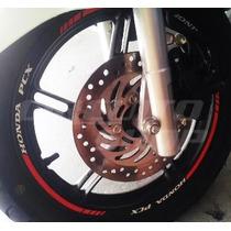 Friso Adesivo Refletivo Rec2 Roda Moto Scooter Honda Pcx 150