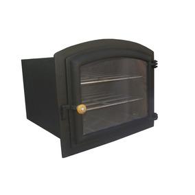 Forno Ferro Fundido Com Porta Vidro Colonial (todo Em Ferro)