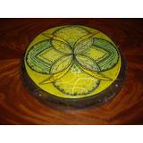 Mandala En Vitrofusion, 28 Cm Diametro, Triple Capa D Vidrio