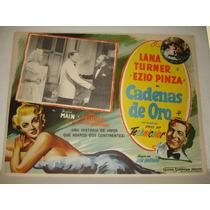 Lana Turner, Cadenas De Oro, Cartel De Cine