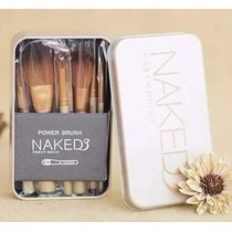 12 Pincel Maquiagem Naked 3 Power Brush C/ Estojo Lata