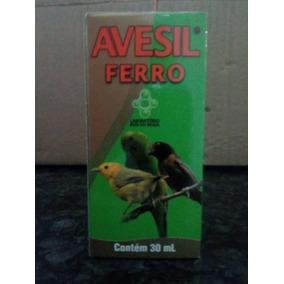 Avesil Ferro Passaro Coleiro Bigode Vitamina Celular