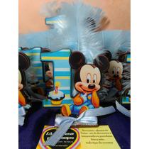 Mickey Primer Año Fibrofacil Con Gibreado+moño+pluma Decorad