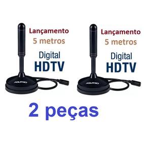 Antena Digital Interna Dtv-150 Aquário 360° -- 2 Peças --