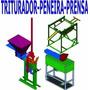 (novo) Projeto Prensa Tijolo Ecológico Triturador E Peneira