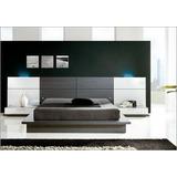 Dormitorio Lineal Moderno,cama 2 Plz+ 2 Veladores Dr 019