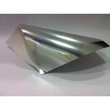 Papel Laminado Lamicote Prata Brilho 30x60cm 255g 125 Folhas