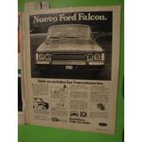 Publicidad Ford Falcon Año 1972