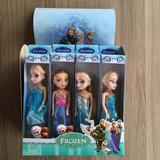 Kit Caixa Frozen 12 Mini Bonecas Princesas Disney Festa A023