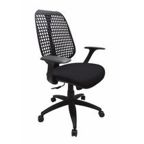 Cadeira Escritório Presidente Ergonômica Herman Miller Preta