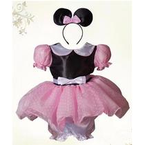 Vestido O Disfraz De Minie Mouse O Mimi En Color Rosa
