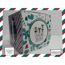 Souvenir Evento Caja J1 Personaliza Navidad Fiesta Año Nuevo