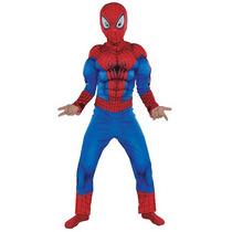 Disfraz Hombre Araña Batman C. America Y Hulk Con Musculos