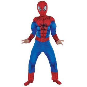 Disfraz Hombre Araña Batman C. A, Hulk Y Superman Musculosos