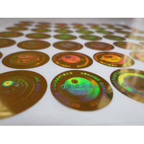 Selo Holográfico - Cor Ouro Ou Cor Prata /com 500 Un.
