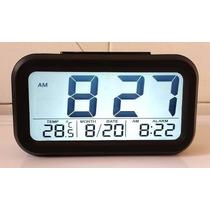 Relógio Digital De Mesa Parede Portatil Único Com Led E Lcd