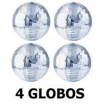 4 Globos Espelhado 30cm Diametro Dj Festa Evento Iluminação