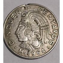 200 Moneda Antigua 50 Centavos Cuauhtémoc Cromo Niquel Lote