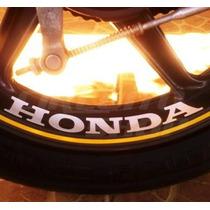 Kit 4 Adesivos Roda Moto Honda Cbx 250 Twister Cb 300 200 Cg