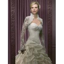 Hermoso Vestido De Novia Bolero Largo. Low Cost!