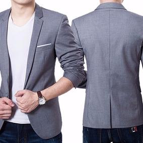 Blazer + Camisa Slim Fit Luxo Casual Masculino