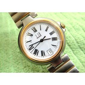 Relógio Dunhill, Aço E Ouro Raridade Perfeito