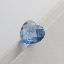 Topázio Azul Zircônia Pedra Preciosa Furo Top 5965