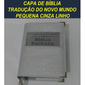 Capa De Bíblia Tj Tradução Do Novo Mundo Bolso Cinza Linho