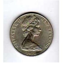 Antigua Moneda De Nueva Zelanda - 1 Dollar - Año 1970