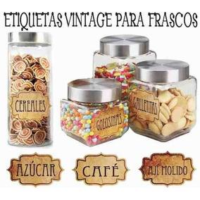 Etiquetas Vinilo Frascos Condimentos Especias Super Lavables