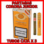 Cigarros Cubanos Partagas Corona Junior Entubados Caja X 3 U