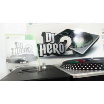 Dj Hero 2 Turntable Bundle Kit + Jogo Xbox 360 Novo!