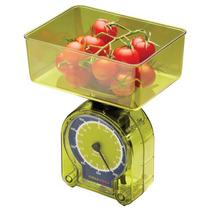 Balança De Cozinha Acrílico Para 500g Verde Kitchen Craft