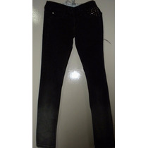Pantalón Jeans Negro Con Tachas Mujer - Importado Ksk Rock