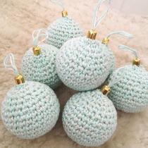 Bolas De Navidad Tejidas Crochet