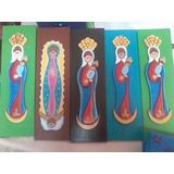 Pintura De La Virgen De Chiquinquirá En Madera Mdf