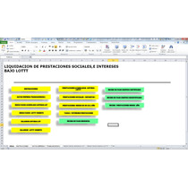 Calculo De Prestaciones Sociales Lottt,plantilla En Excel