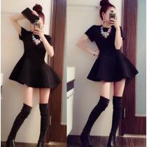 Vestido Casual Corto Lindo Corte Tipo A Con Manga Corta 2445